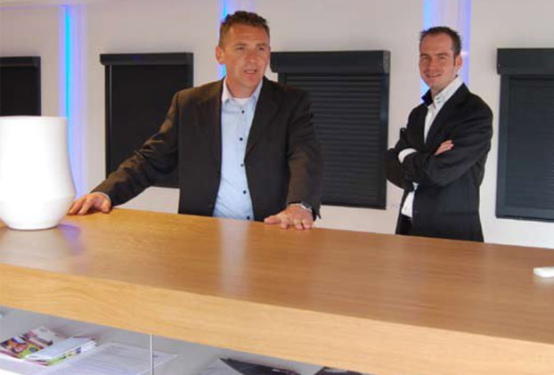 Robert Kroesbergen met Eric van den Broek, april 2010
